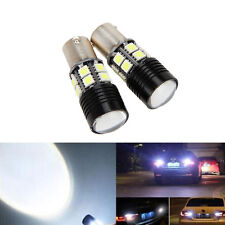 2x No Error Canbus White LED Backup Reverse Light Bulb P21W 1156 7506 BA15S