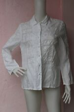 ₅ PRONTO White Embroidered Shirt Blouse Size: M