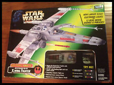 STAR WARS POWER OF THE FORCE ELECTRONIC LUKE SKYWALKERS RED 5 X-WING FIGHTER NIB