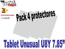"""Pack 4 Protectores pantalla para tablet Unusual U8Y 7.85"""" 7,85"""" pulgadas"""