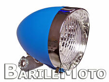 Fanale / Faro / Luce Anteriore Azzurro 3 LED Bici Sport - City Bike - Fixed