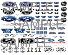 FORD 1:64 WATER-SLIDE DECALS FOR HOT WHEELS, MATCHBOX, SLOT CAR:
