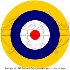 """RAF Royal Air Force Type A1 Aircraft Roundel UK Biitish 100mm (4"""") Sticker Decal"""