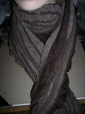 Charter Club Reversible Fringed Scarf Wrap Shawl NF10RWBRN Cocoa Bean $38 72""