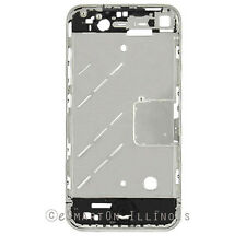iPhone 4G Mid Cover Chassis Metal Frame Chrome Bezel Replacement Part GSM USA