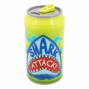 Coolgearcan 12 oz/Yellow Shark Attack/BPA Free/Double Wall/Twist lid/Spill Proof