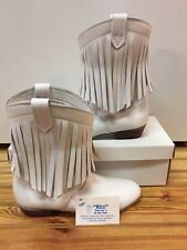 White, Square Dance Boots/shoes Size 6N, Mitzi Fashion, Vintage, fringe