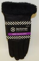 Isotoner Signature Women's Leather Dress Gloves Black XL Size 8.5/9 NWT