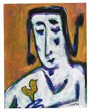 TWEET original abstract/folk/outsider? mixed media painting J.Swinton Canadian