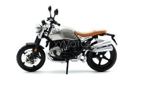 BMW NineT Scrambler Diecast Motorcycle Model Bike 18834 Silver gray 1/12 Maisto