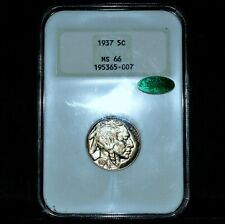 1937-P BUFFALO NICKEL ✪ NGC MS-66 CAC ✪ 5C GEM UNC OLD FATTY HOLDER ◢TRUSTED◣