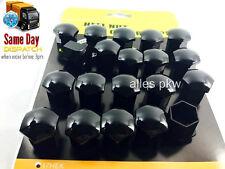 20 x 17mm RENAULT SCHWARZ RADSCHRAUBEN RADMUTTERN RADDECKUNG ABDECKUNG NUT CAPS