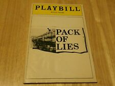 Playbill Program Pack Of Lies Royale Theatre 1985 George Martin Dana Ivey