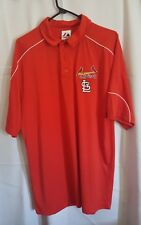 Majestic St. Louis Cardinals Large Men's Short Sleeve Polo Shirt Red F56
