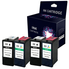 4 x Ink Cartridges Replace For Lexmark No.32 & 33 P915 P4330 P4350 P6250 X5470