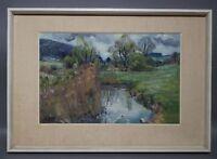 Ruth Dolmetsch (1918-2000 Stuttgart) - Regenstimmung an der Würm Würmtal (D219A)