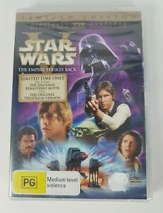 STAR WARS V: THE EMPIRE STRIKES BACK 2 x DVD Theatrical + Remastered Brand NEW!