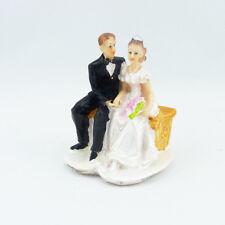 Brautpaar Bank Hochzeitspaar Hochzeit Geschenk Hochzeitsfigur Tortenfigur