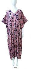 Ladies polyester Viscose /Jersey printed stretch soft Kaftan/beach dresses 10-32