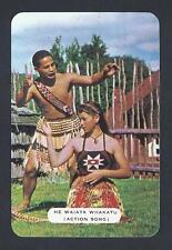 #850.102 vintage swap card -MINT- Maori people in traditional dress