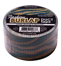 Fashion Burlap Duct Tape Turquoise Zebra Print Craft 1.88 x 10 Yards Per Roll