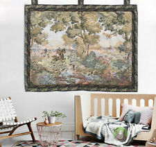 Vintage French Large Floral tapestry Aubusson wall hanging Home Decoration 2x3