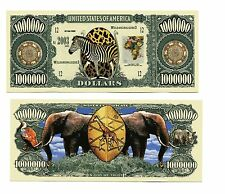 ELEPHANT  &  ZEBRA  MILLION   DOLLAR  BILL