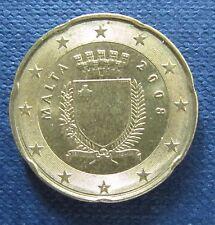 20 Cent Euro-Münze Malta Prägejahr 2008 aus Umlauf Sammlerstück