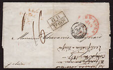 $Ship Cover 1857 Cunard Asia, New York forwarder hand stamp on reverse
