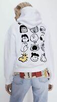 100% Authentic ZARA White Snoopy ® Peanuts Sweatshirt Size: S