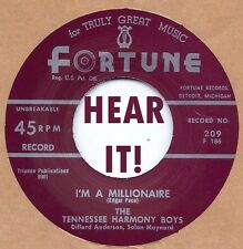 ROCKABILLY REPRO: TENNESSEE HARMONY BOYS - I'm A Millionaire FORTUNE - HILLBILLY