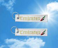 Emirates keychain keyring baggage luggage tag