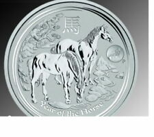 Lunar II Pferd Year of the Horse 2014 1 oz 999 Silber Feinsilber Privy Mark