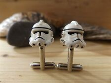 GENUINE LEGO STORM TROOPER CUFFLINKS Handmade Cuff Link Gift For Star Wars Fans
