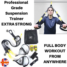 Home Suspension Trainer Fitness Straps Pro Gym Body Resistance Bands Training UK