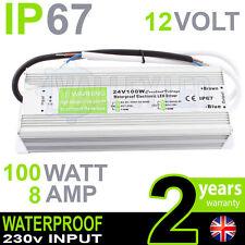 IP67 12V DC 100w 8A 230v Impermeable fuente de alimentación para tira LED Driver Cctv