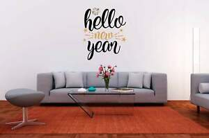 Hello New Year Vinyl Decal for DIY Signs, Walls, Wood, Metal, New Year's Eve Par