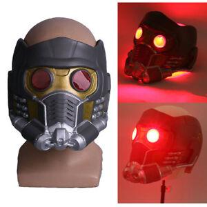 Cosplay Infinity War Quill Star Lord LED Mask Superhero Halloween Latex Helmet