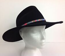 Wool Dorfman Pacific Cowboy Western Hat Felt Black USA Men's Small RN31805