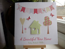 Beautiful Handmade Personalised New Home Housewarming Moving House Card