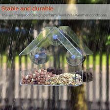 2Pcs Weather Proof Bird Feeder Pet Wild Outdoor Garden Hanging Acrylic Ports