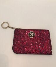 Nwt Kate Spade Medium L-Zip Card Holder Wallet Blk Cherry Odette Glitter $99