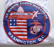 1987 MARINE COPRS MARATHON FINISHER'S METAL RUNNER'S SHIRT AND BIB