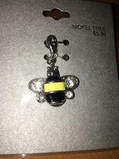 Nickel Free Bumblebee  Charm W/ Rhinestone For Bracelets New NWT Target Brand