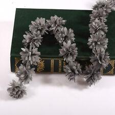 9,1 m Vintage Gris 3D Fleur Garniture En Dentelle Fabric Mariée Mariage Robe