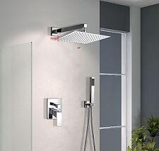 "10""unleaded Square Wall Mount Brass Mixer Valve handheld Shower set For Bathroom"