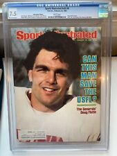 Sports Illustrated Feb 25 1985, DOUG FLUTIE cover, professionally Graded CGC 7.5