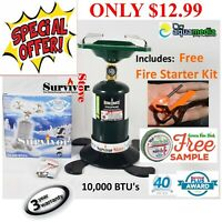 "SINGLE PROPANE STOVE OUTDOOR CAMPING TAILGATE ""Coleman Style"" Survival Bugout"