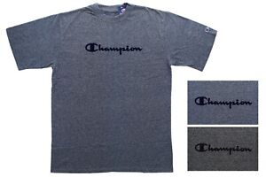 Champion Men's Marled T-Shirt Big & Tall Short Sleeve Flocked Logo Athleticwear
