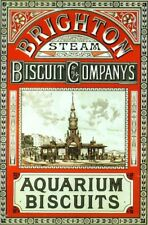 """TIN SIGN """"Brighton Biscuits""""  Food  Mancave Wall Decor"""